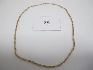 1 Chaine en or maille marine(L44cm). PB 9,8g.