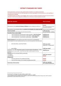 extrait standard des tarifs au 1er avril 2021