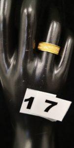1 Bague en or semi- brossée (TD 53). PB 1,4g
