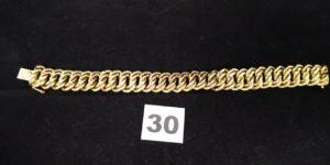 1 Bracelet en or maille américaine (L 20cm, tordu, abimé). PB 34g