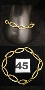 1 Bracelet en or, maillons ovales alternés (L 19cm). PB 8,2g