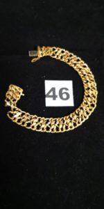 1 Bracelet en or maille en huit abimée (L 19cm). PB 12,4g