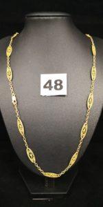 1 Collier en maille filigranée en 20k (L 55cm, fermoir en 9k). PB 15,3g
