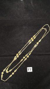 1 Sautoir en or maille alternée filigranée (L 154cm). PB 66,9g