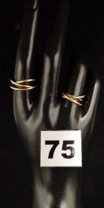 2 Alliances 3 brins (TD 57 et 57 tordues). Le tout en or. PB 5,7g