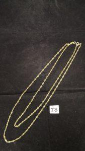 1 Sautoir en or maille alternée (L 154 cm). PB 34g