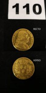 1 Pièce de 20fr or Louis XVIII buste habillé (année 1815R). PB 6,3g
