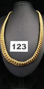1 Collier maille américaine graduée (L 45,5cm). PB 38,5g