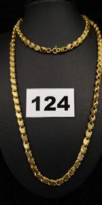 1 Sautoir en or maille fantaisie (L 70cm). PB 22,1g