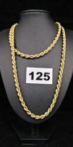 1 Sautoir en or maille corde (L 80cm). PB 21,6g