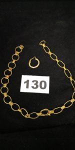1 Boucle créole et 1 Chaine en or maille alternée ( L 32cm). Le tout en or . PB 10,1g