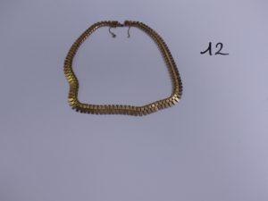 1 collier draperie en or avec chaînette de sécurité (L43cm). PB 41,3g