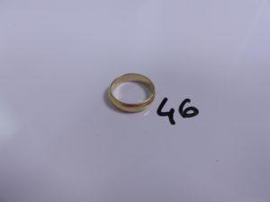 1 alliance en or (intérieur gravé,Td64).PB 8,2g