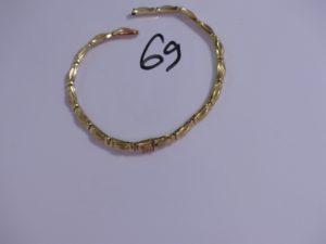 1 morceau de collier maille articulée en or. PB 13,3g
