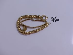 1 lot casse en or (2 bracelets). PB 25,9g