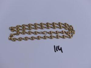 1 chaine maille grain de café en or (L60cm). PB 31,5g