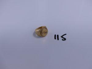 1 chevalière en or gravée (Td52). PB 3,4g