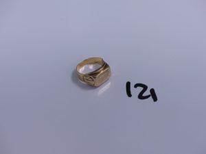 1 chevalière en or gravée (Td50). PB 4,9g
