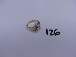 1 bague en or à décor floral orné de pierres (Td59). PB 5,8g