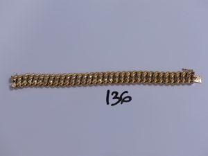 1 bracelet maille américaine en or (L19cm). PB 25,4g