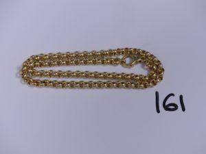 1 collier en or maille jaseron (L44,5cm). PB 24,1g