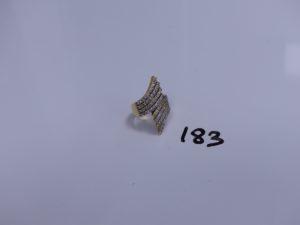 1 bague en or ornée de rangs de petites pierres (Td56). PB 10g