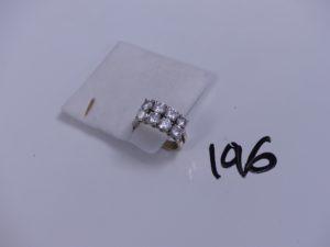 1 bague en or sertie-griffes de 8 diamants taille brillant (environ 1,50 cts le tout, un peu fendue, Td 52). PB 6,7g