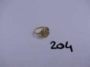1 bague en or ornée de petites pierres (Td57). PB 4,5g