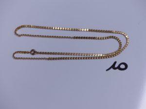 1 Chaîne en or maille articulée (L52cm). PB 7,8g