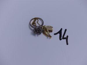 1 Lot casse en or (1 petite pierre). PB 8,8g