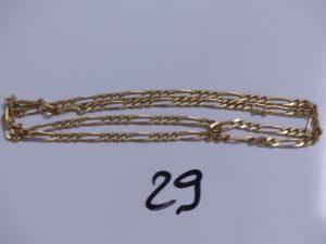 1 Chaîne en or maille alternée (L60cm). PB 27,9g