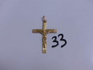 1 Christ sur croix en or. PB 10,7g