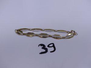 1 Bracelet en or maille articulée (L19cm). PB 10,5g