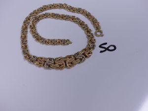 1 Collier 3 ors maille royale (L47cm). PB 20,9g
