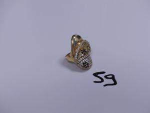 1 Bague en or ornée de nombreuses pierres (Td57). PB 4,7g