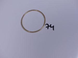 1 Bracelet jonc en or pour enfant (à redrésser, Diamètre 6cm). PB 12,6g