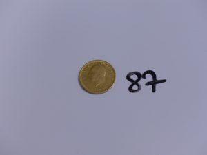 1 Pièce turque en or 22K (soudure 18K). PB 7,2g