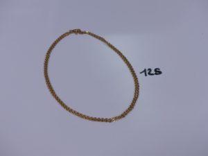 1 chaîne maille alternée plate en or (66cm). PB 10,4g