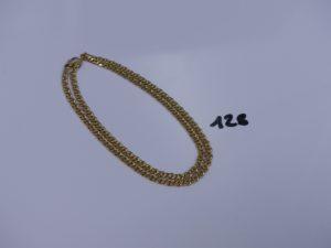 1 chaîne maille gourmette eno r (L47cm). PB 19,8g