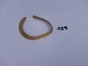 1 bracelet gourmette gravée en or (L17cm). PB 20,9g