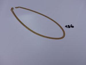 1 chaîne maille gourmette en or (L60cm). PB 8,3g