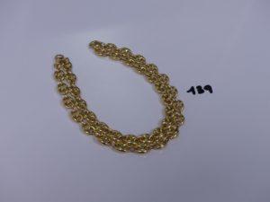 1 collier maille grain de café en or (L50cm). PB 31,4g