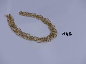 1 chaîne maille marine en or (L59cm). PB 36g