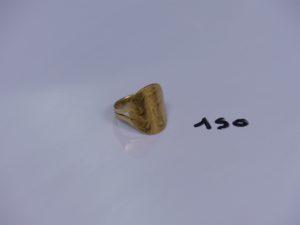 1 bague pièce de 20frs retournée en or (td58). PB 9,2g