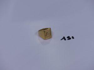 1 chevalière en or (abimée et td52). PB 5,5g