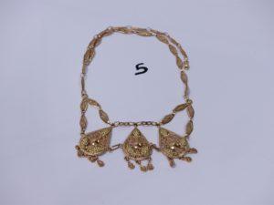 1 collier draperie en or à décor de grappes de raisins (L38cm). PB 26,3g