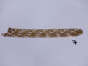 1 chaîne maille alternée en or (L70cm). PB 51,2g