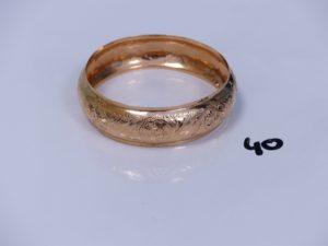 1 bracelet rigide ouvrant en or (diamètre 6,5cm). PB 16,3g