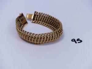 1 bracelet maille russe en or (L21cm). PB 29,7g