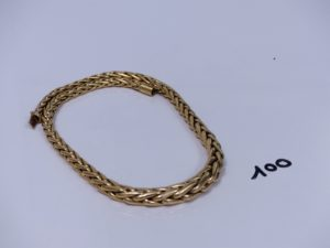 1 collier maille palmier en or (L46cm). PB 44,5g